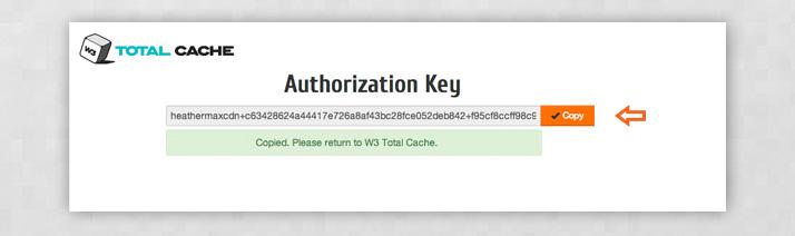 Authorization key